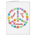 Amor Minnesota de la paz Felicitacion