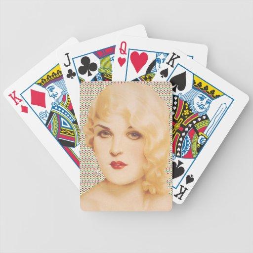 Amor modelo de los años 30 retros cartas de juego