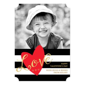 Amor moderno usted tarjeta de la foto del el día invitación 12,7 x 17,8 cm