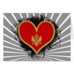 Amor Montenegro del vintage I Tarjeta De Felicitación