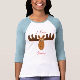 Amor Moosey de Head_I de los alces Camisetas