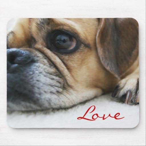 Amor Mousepad de Puggle