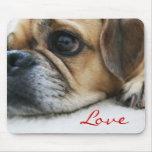 Amor Mousepad de Puggle Tapetes De Ratón