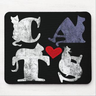 """Amor"" Mousepad del gato Tapetes De Ratones"