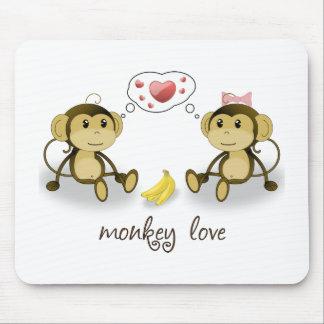 Amor Mousepad del mono Tapete De Ratones