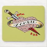 Amor Mousepad del zombi Tapete De Raton
