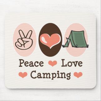 Amor Mousepad que acampa de la paz