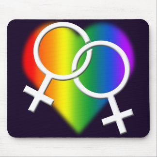Amor Mousepads del arco iris de Mousepad del orgul