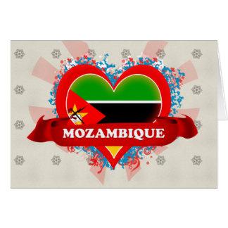Amor Mozambique del vintage I Tarjeta De Felicitación