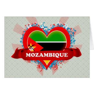 Amor Mozambique del vintage I Tarjeta