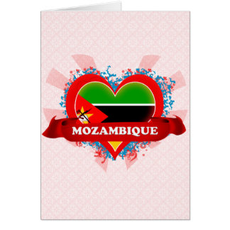 Amor Mozambique del vintage I Tarjeton
