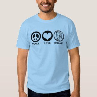 Amor Mozart de la paz Remera