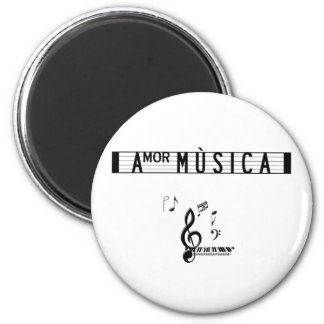 Amor Musica Notes Magnets