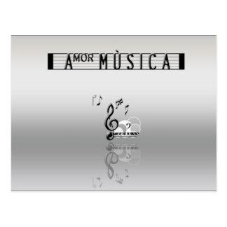 Amor Musica Postcard