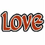 Amor naranja-rojo de Polkadot Esculturas Fotograficas