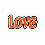 Amor naranja-rojo postales