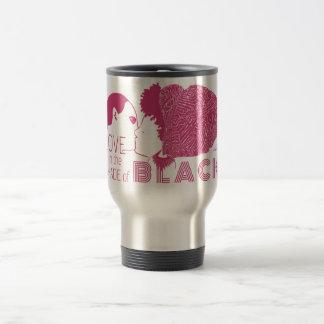 AMOR NEGRO en ROSA Tazas De Café