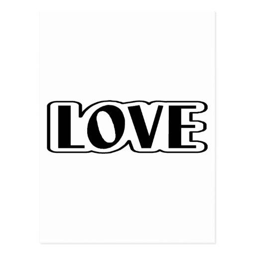 Amor (negro) postales