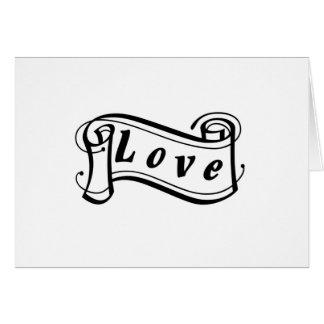 Amor negro sabe rollo de escritura tarjeta de felicitación