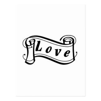 Amor negro sabe rollo de escritura tarjeta postal