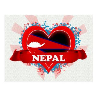 Amor Nepal del vintage I Tarjeta Postal