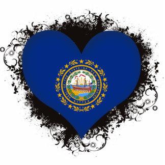 Amor New Hampshire del vintage I Fotoescultura Vertical