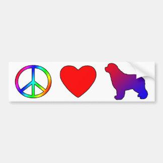 Amor Newfoundlands de la paz Pegatina Para Auto