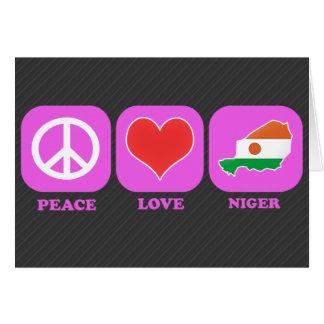 Amor Niger de la paz Tarjeta