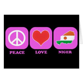 Amor Niger de la paz Tarjetón