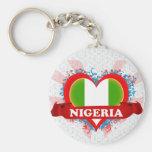 Amor Nigeria del vintage I Llavero Redondo Tipo Pin