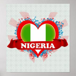 Amor Nigeria del vintage I Póster