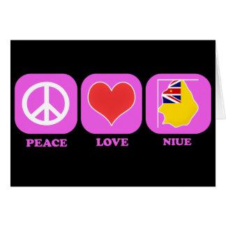 Amor Niue de la paz Tarjetas