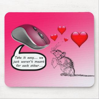 Amor no correspondido en rosa tapetes de raton
