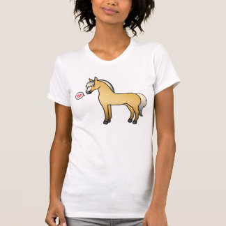 Amor noruego del caballo del fiordo del dibujo camisetas
