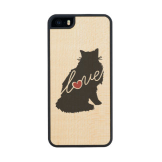 Amor noruego del gato del bosque funda de arce carved® para iPhone 5 slim