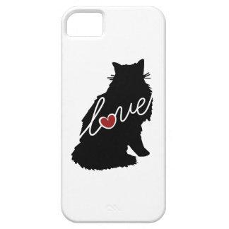 Amor noruego del gato del bosque funda para iPhone 5 barely there