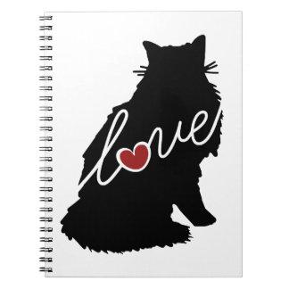 Amor noruego del gato del bosque libreta espiral