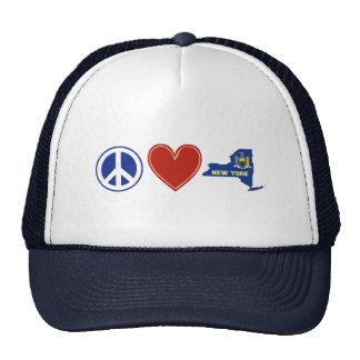 Amor Nueva York de la paz Gorros