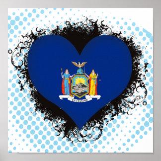 Amor Nueva York del vintage I Póster