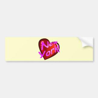 Amor Nueva York Etiqueta De Parachoque
