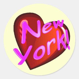 Amor Nueva York Pegatinas Redondas