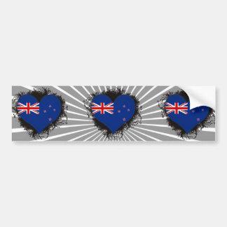 Amor Nueva Zelanda del vintage I Pegatina Para Auto