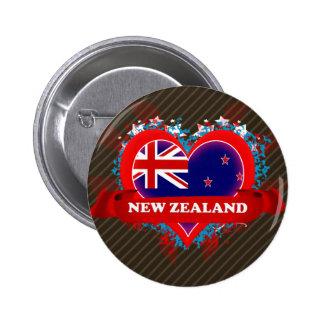 Amor Nueva Zelanda del vintage I Pins