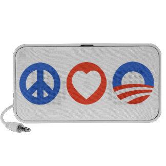 Amor Obama de la paz Notebook Altavoz