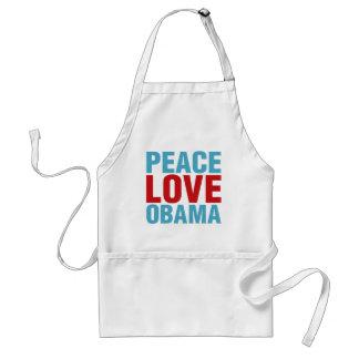 Amor Obama de la paz Delantal