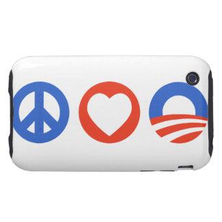 Amor Obama de la paz Funda Resistente Para iPhone 3