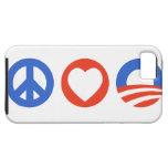 Amor Obama de la paz iPhone 5 Protector