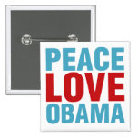 Amor Obama de la paz Pins