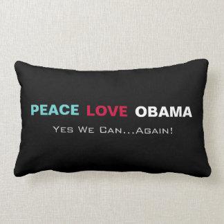 Amor Obama de la paz podemos sí otra vez almohada Cojín Lumbar