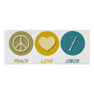 Amor Oboe de la paz Poster